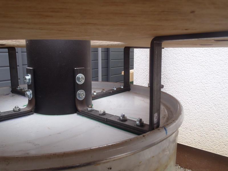 Beheizbarer stehtisch grillforum und bbq for Tischplatte selber bauen