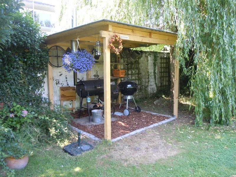 berdachung grillterrasse grillforum und bbq www. Black Bedroom Furniture Sets. Home Design Ideas