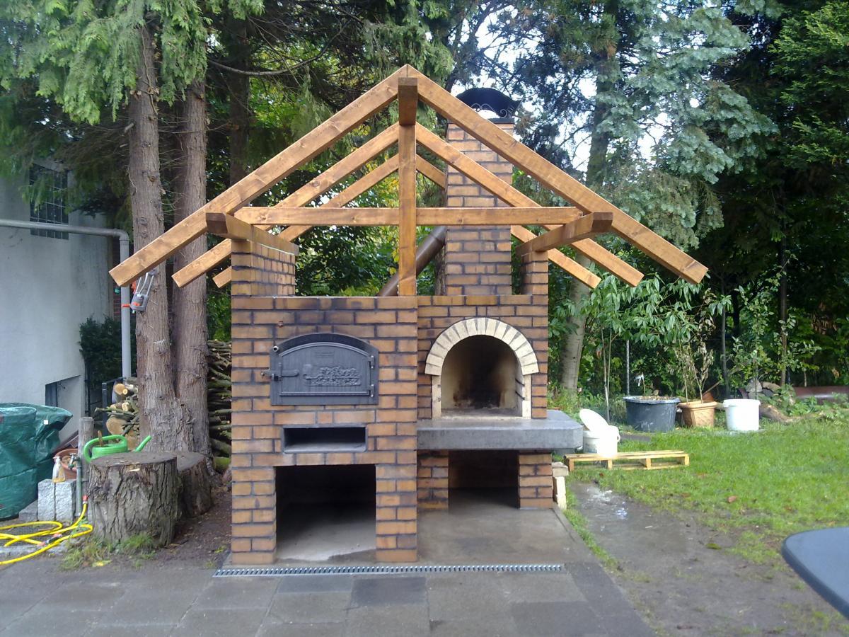 Bauprojekt holzbackofen grill kombination h ussler hbo 6 8 for Holzbackofen selber bauen