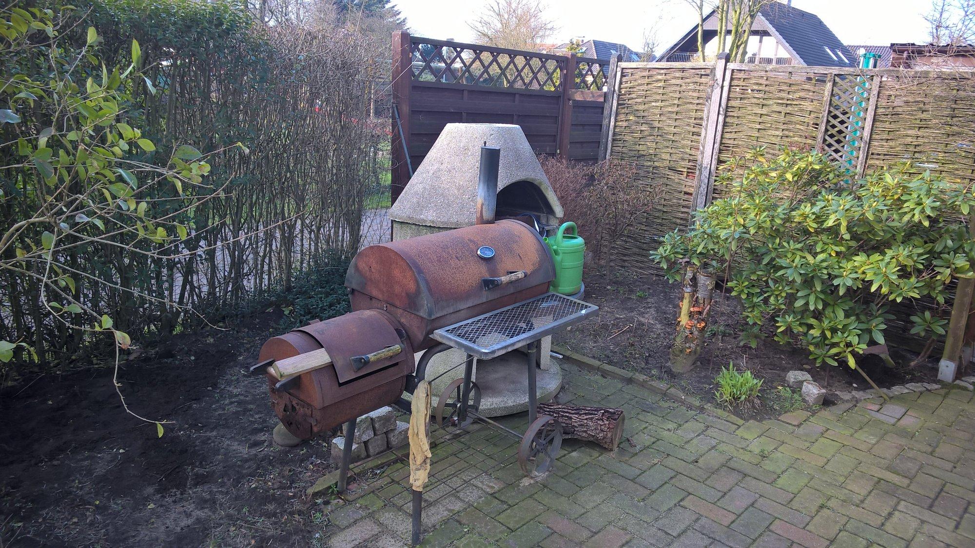 Outdoorküche Mit Holzbackofen : Pizzaofen und outdoorküche grillforum und bbq www