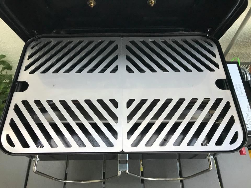 Weber Go Anywhere Holzkohlegrill Test : Testbericht teiligen edelstahl gas grillrost für weber go
