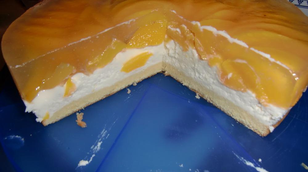 Quark Sahne Torte Mit Pfirsichen Zum Wuku Tag Grillforum Und Bbq