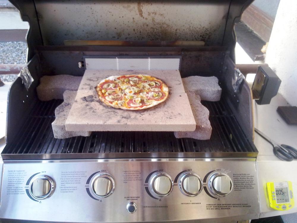 Pizza Gasgrill : Pizza beim fleischgriller nach gögas geburtstag gestern grillforum
