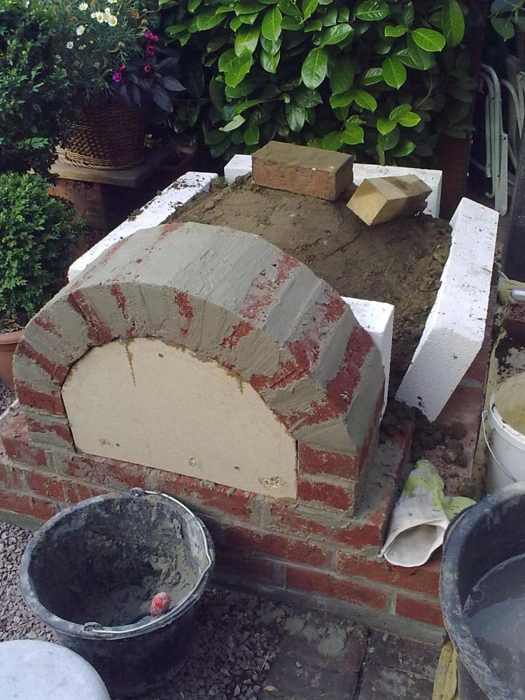 Bauprojekt pizzaofen grillkombination grillforum und bbq - Pizzaofen fur den garten ...