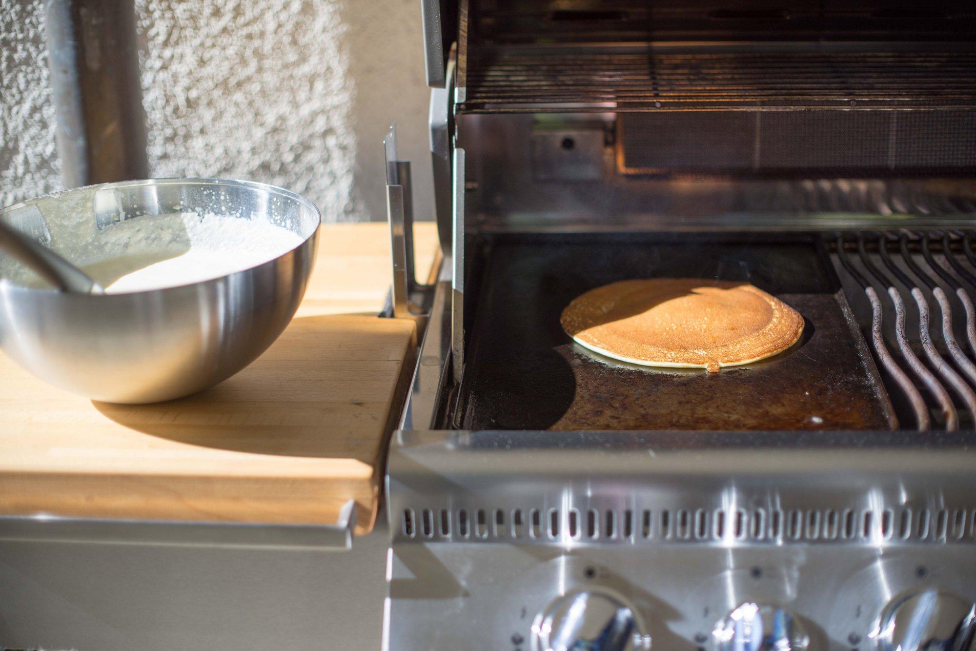 Reibekuchen Pfanne Für Gasgrill : Pfannkuchen vom gasgrill griddle plate grillforum und bbq