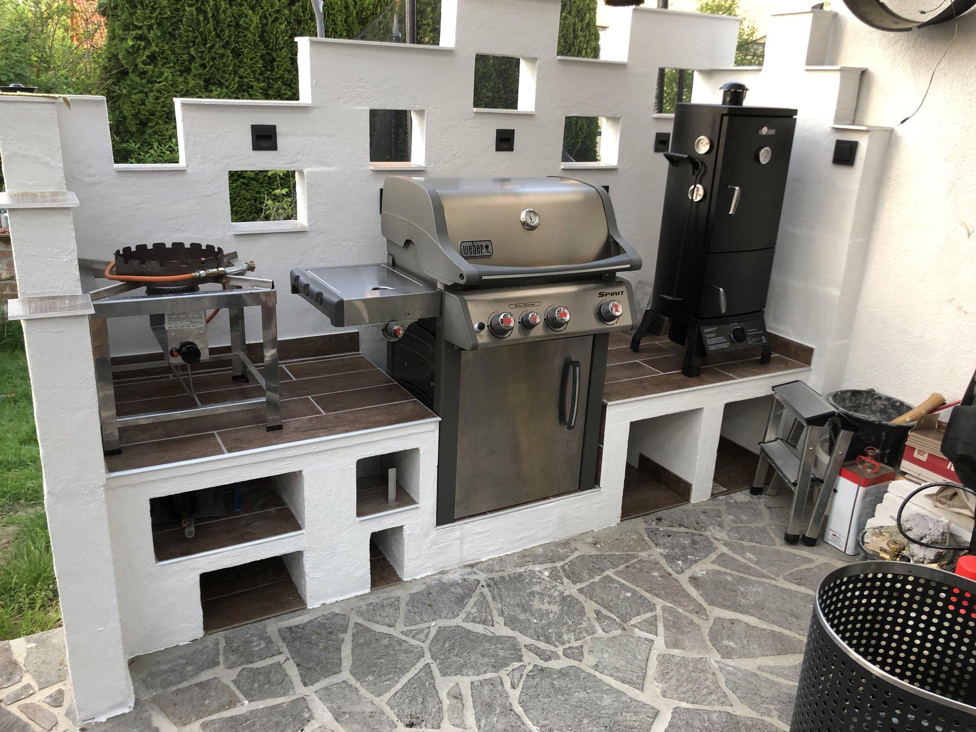 Outdoor Küche Mit Weber Spirit : Outdoorküche mit weber spirit e grillforum und bbq