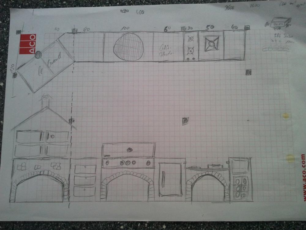 Außenküche Selber Bauen Grillsportverein : Bau einer außenküche gasgrill plus keramikei seite