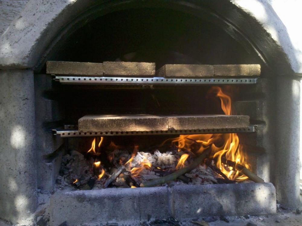 Pizzaofen Als Einsatz Fur Den Grillkamin Grillforum Und Bbq Www