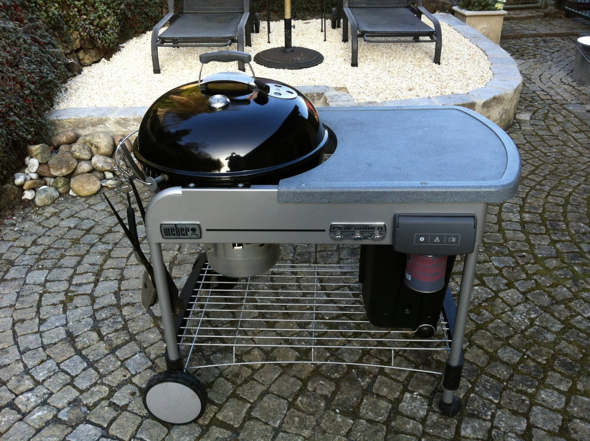 Weber Grill Holzkohlegrill Performer Deluxe Gbs Gourmet : Weber performer gbs