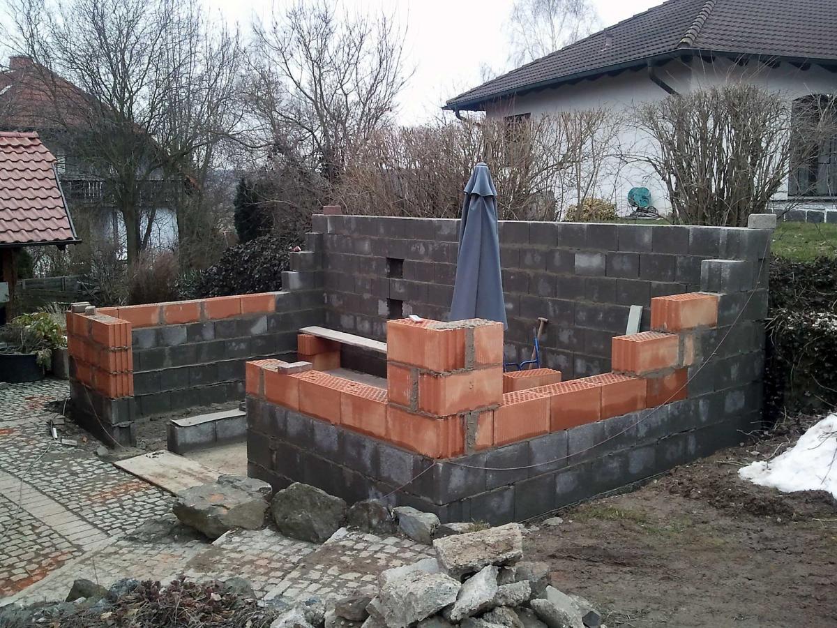 Outdoor Küche Mauern: Terrasse