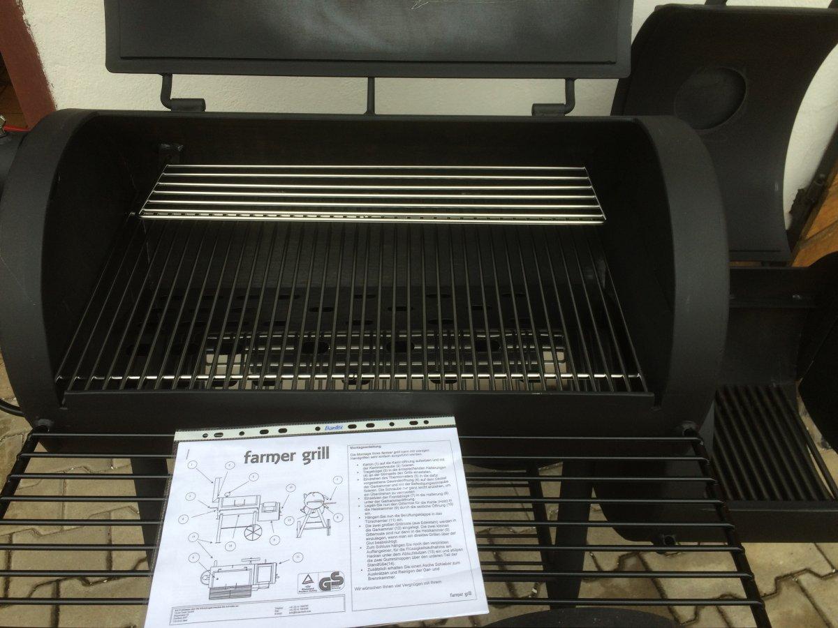 farmer grill smoker 18 unboxing und testlauf grillforum und bbq. Black Bedroom Furniture Sets. Home Design Ideas