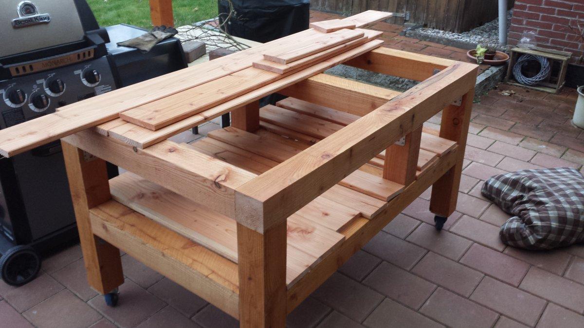 tisch f r primo oval eigenbau grillforum und bbq www. Black Bedroom Furniture Sets. Home Design Ideas
