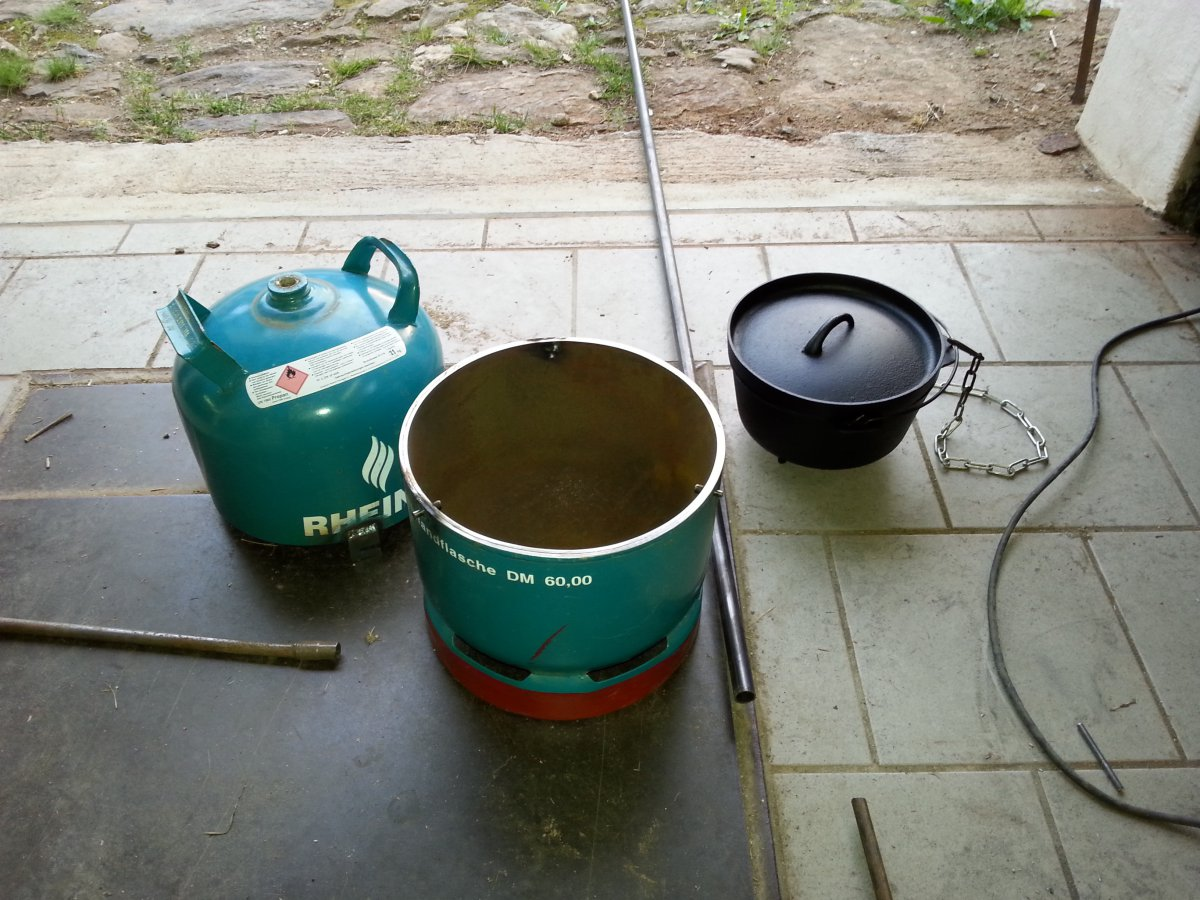 Enders Gasgrill Gasflasche : Umbau einer kg gasflasche zu einem grill bzw do untergestell