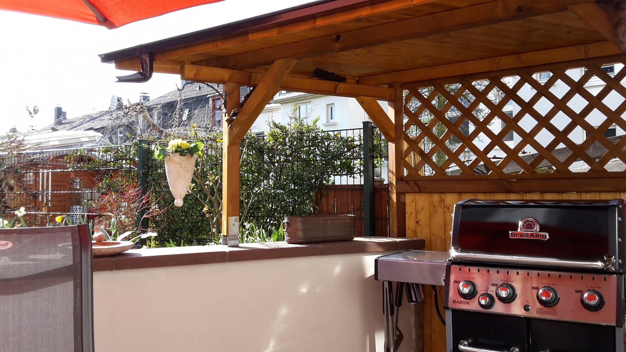 Grill Unter Dach Holzbalken Hitze Schmutzschutz Grillforum
