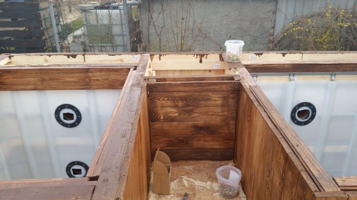 badezuber aus ibc tanks mit ofen im wasser seite 3 grillforum und bbq. Black Bedroom Furniture Sets. Home Design Ideas