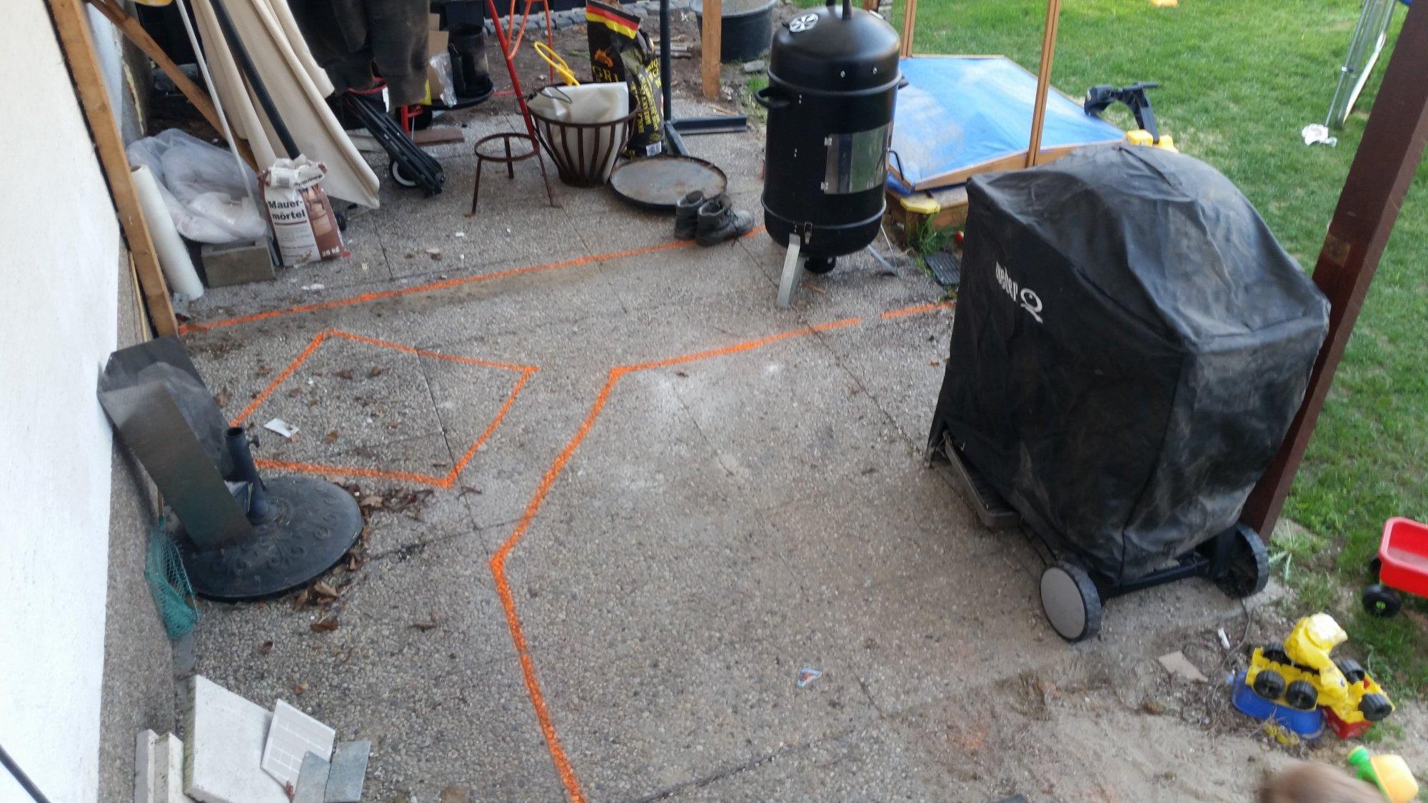 Outdoorküche Stein Plus : Nach der terrasse kommt endlich die outdoorküche grillforum und