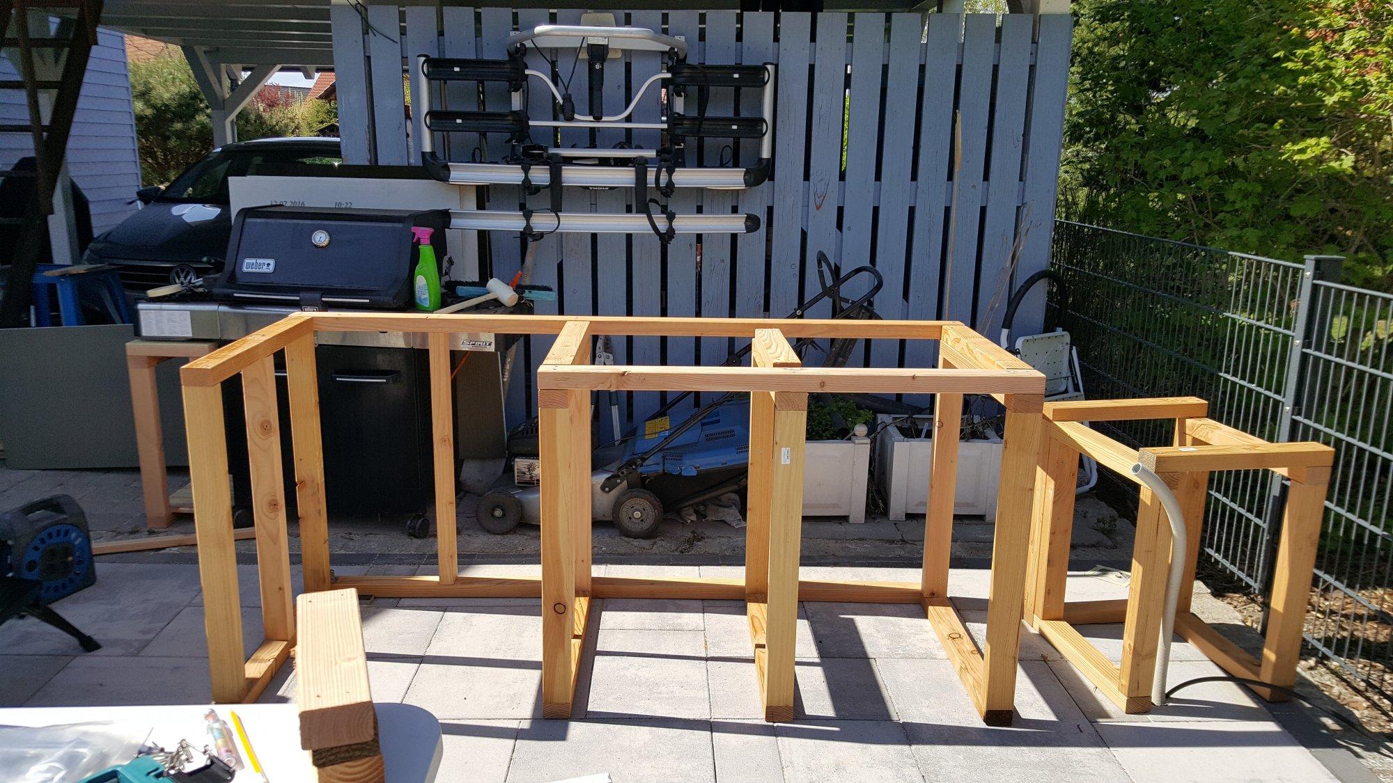 Outdoorküche Kinder Nähen : Kleine outdoorküche in holzrahmenbauweise grillforum und bbq