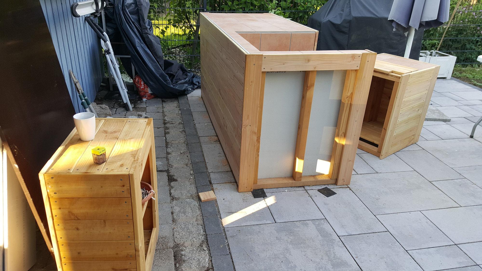 Kleine Outdoor Küche : Kleine outdoorküche in holzrahmenbauweiseseite grillforum und