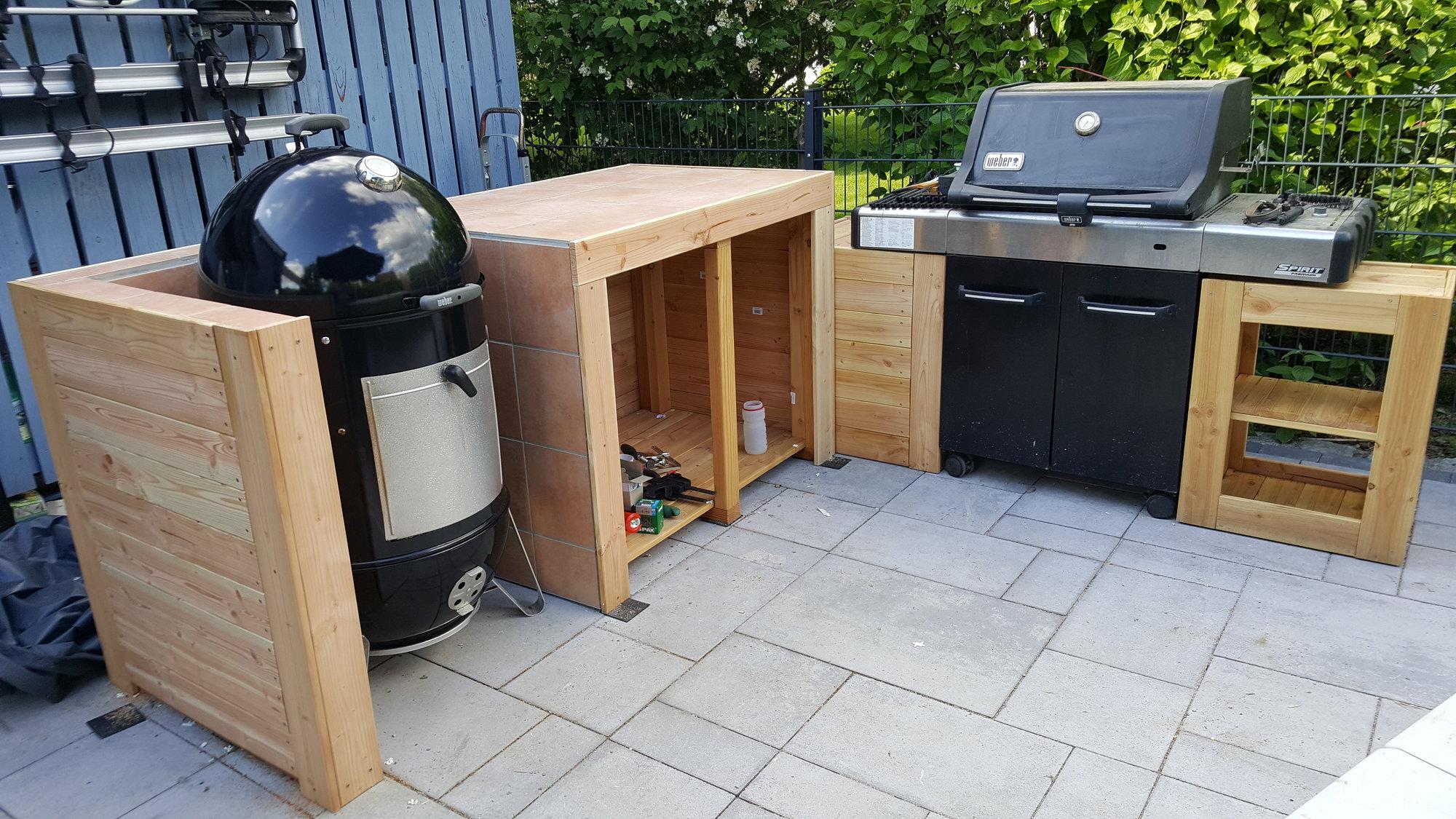 Outdoor Küche Grillsportverein : Kleine outdoorküche in holzrahmenbauweise seite grillforum
