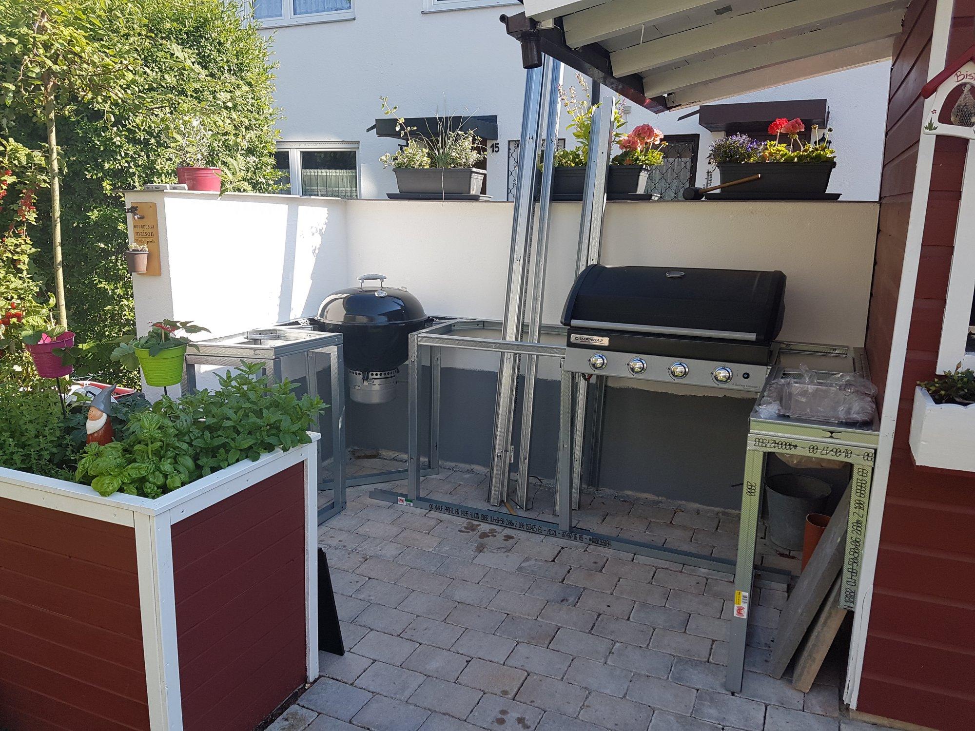 Außenküche Selber Bauen Unterkonstruktion : Außenküche selbst