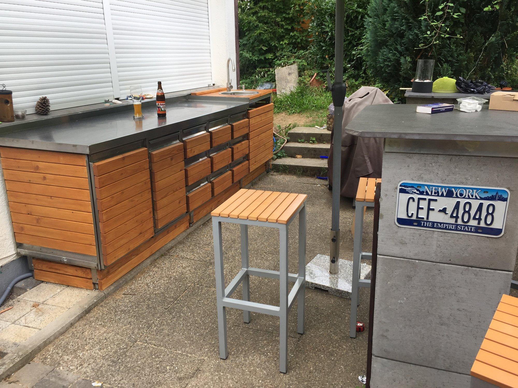 Outdoor Küche Kamado Joe : Outdoor küche aus u steinen grillforum und bbq www