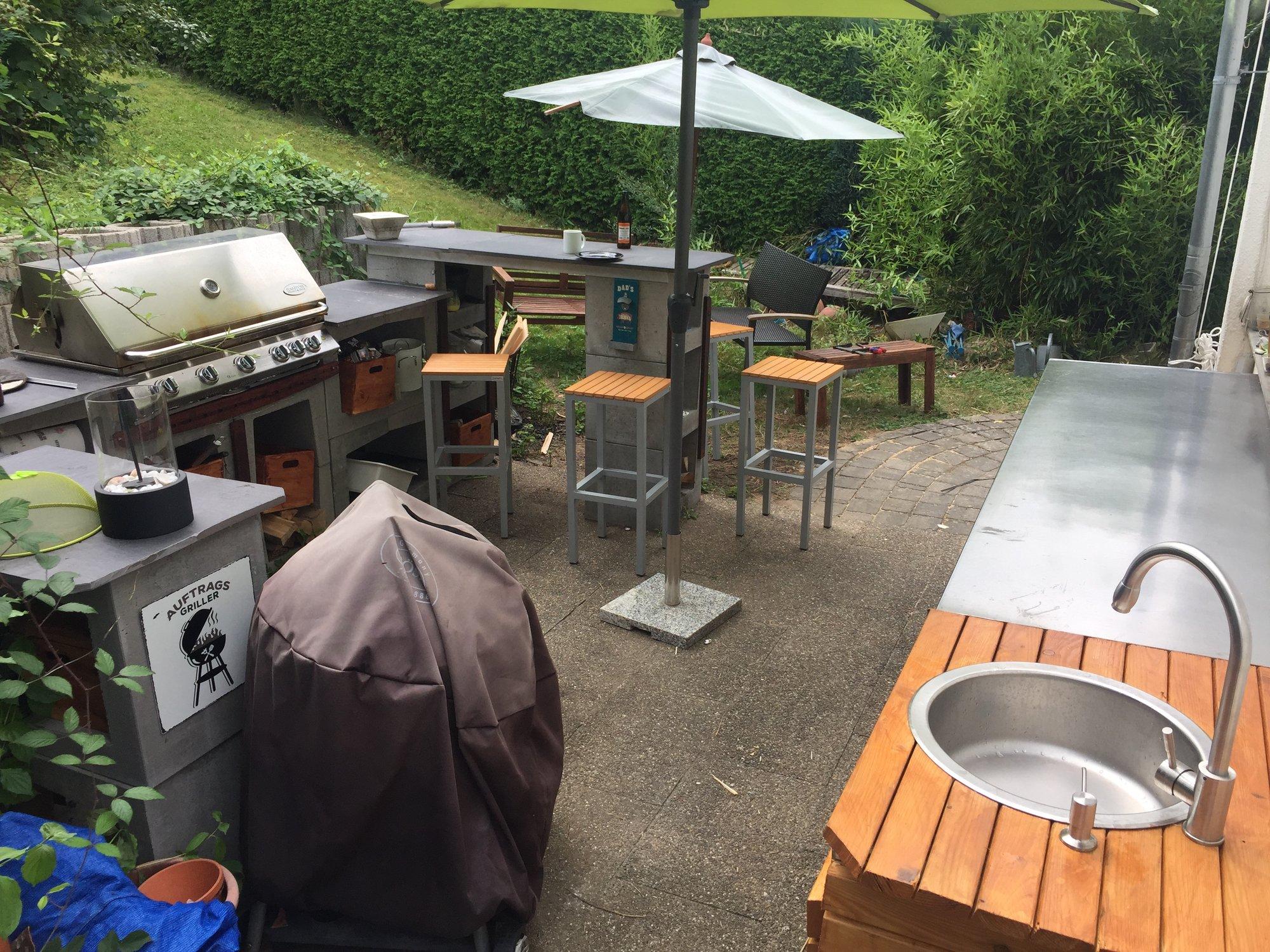 Outdoor Küche Mauern : Outdoor küche aus u steinen grillforum und bbq