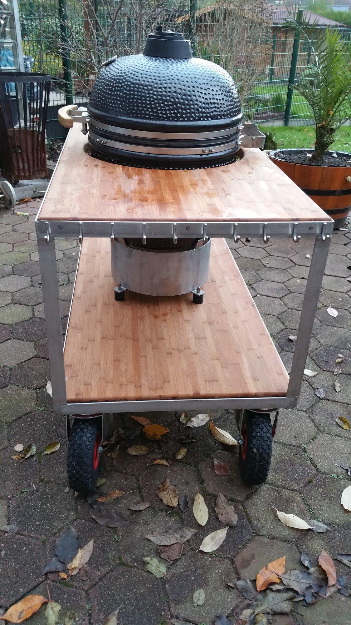 grillwagen xxl f r monolith kamado und co grillforum. Black Bedroom Furniture Sets. Home Design Ideas