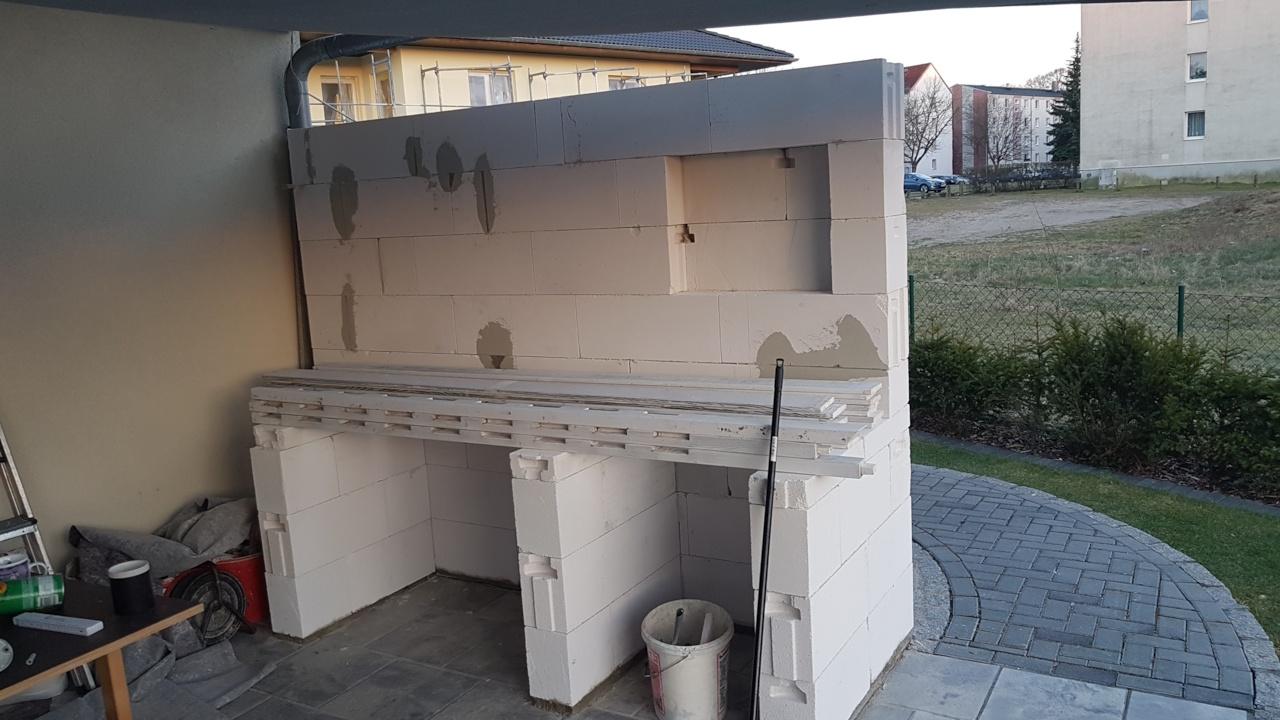 Outdoorküche Arbeitsplatte Test : Outdoor küche arbeitsplatte grill selber mauern anleitung idee