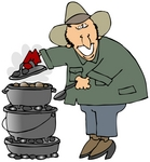 32100-clip-art-graphic-of-a-happy-caucasian-guy-cooking-food-on-a-dutch-oven-at-his-campsite-by-.jpg