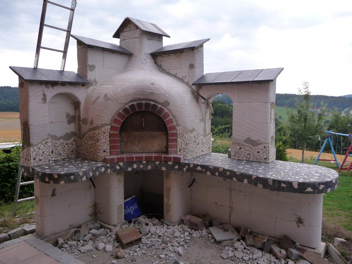 geplant war eigentlich nur ein kleiner gemauerter grill grillforum und bbq www. Black Bedroom Furniture Sets. Home Design Ideas