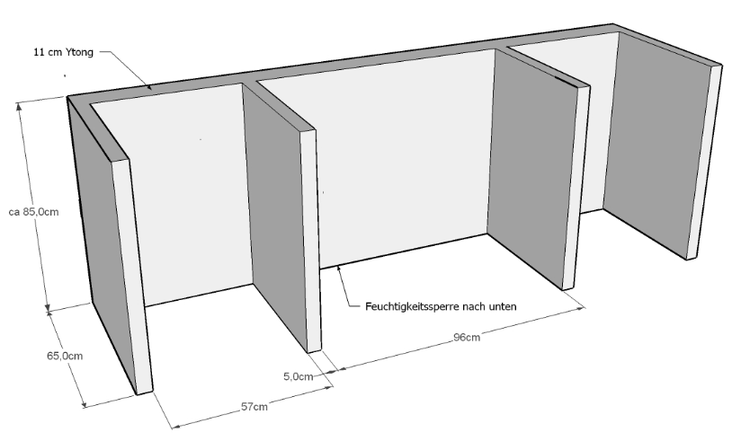 bau einer au enk che mit napoleon prestige 600. Black Bedroom Furniture Sets. Home Design Ideas