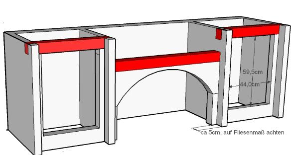 bau einer au enk che mit napoleon prestige 600 grillforum und bbq. Black Bedroom Furniture Sets. Home Design Ideas