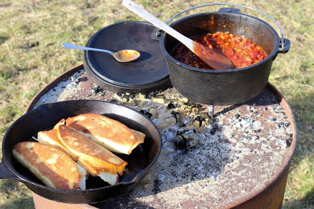 Chicken Wraps und BBQ-Beans.JPG