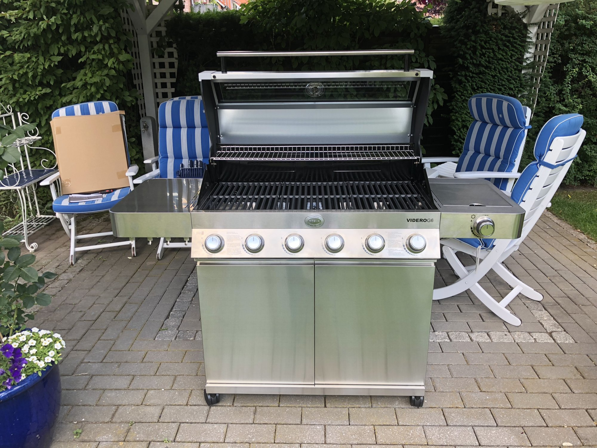 Rösle Gasgrill G6 : Roesle gasgrill videro g anthrazit