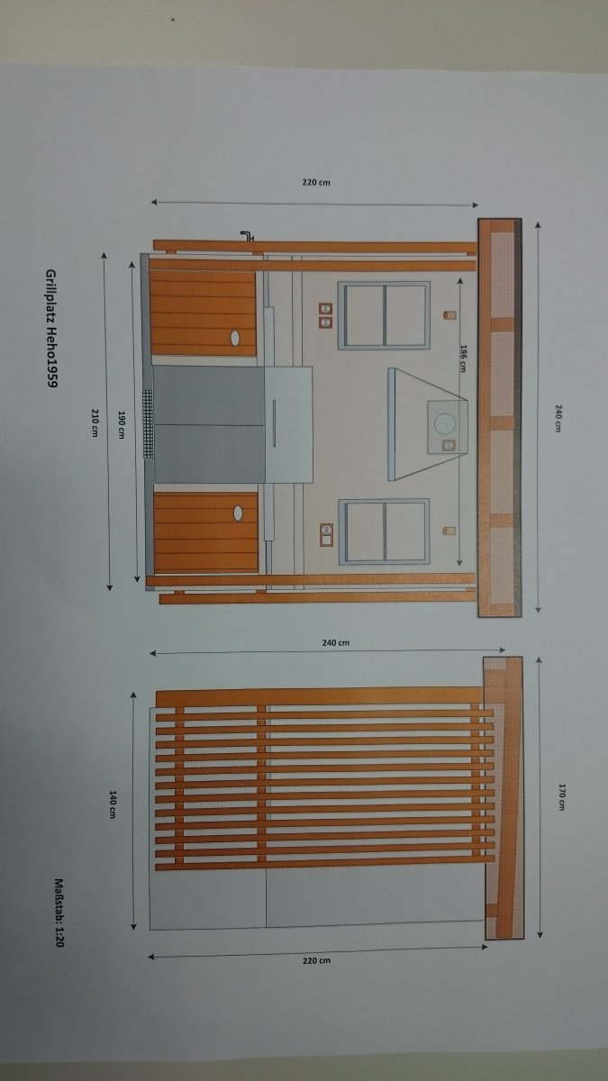 neue aussen k che wird f r lex485 gebaut grillforum und bbq. Black Bedroom Furniture Sets. Home Design Ideas