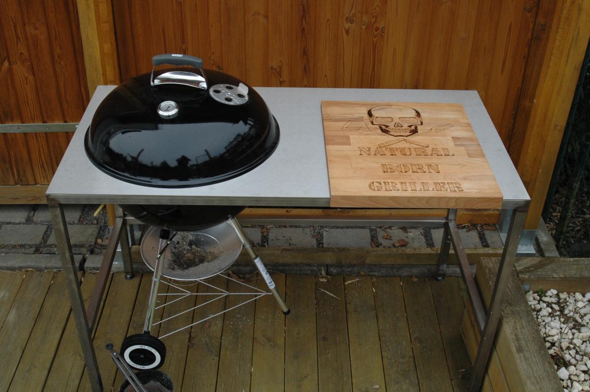 grilltisch aus edelstahl f r 57er kugel grillforum und. Black Bedroom Furniture Sets. Home Design Ideas