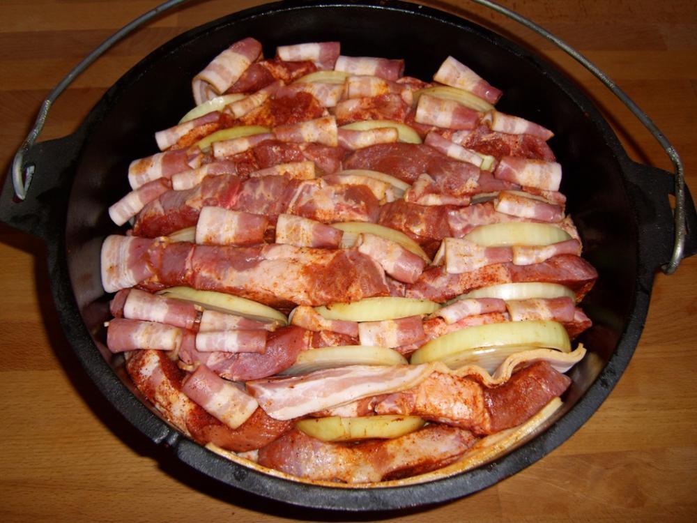 Dutch Oven Sonntag Einweihung Mit Schichtfleisch