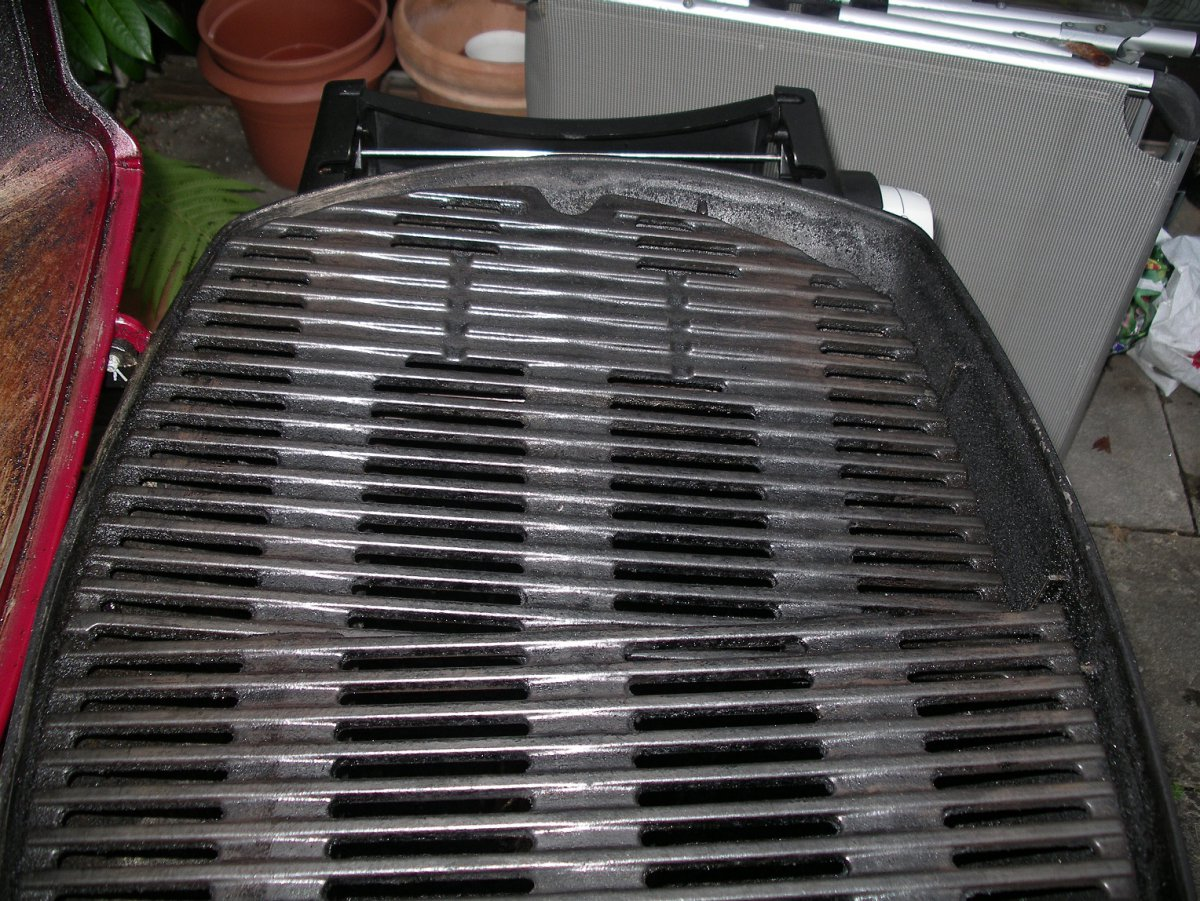 Weber Elektrogrill Fettbrand : Weber q3200 grillroste fallen in den grill grillforum und bbq