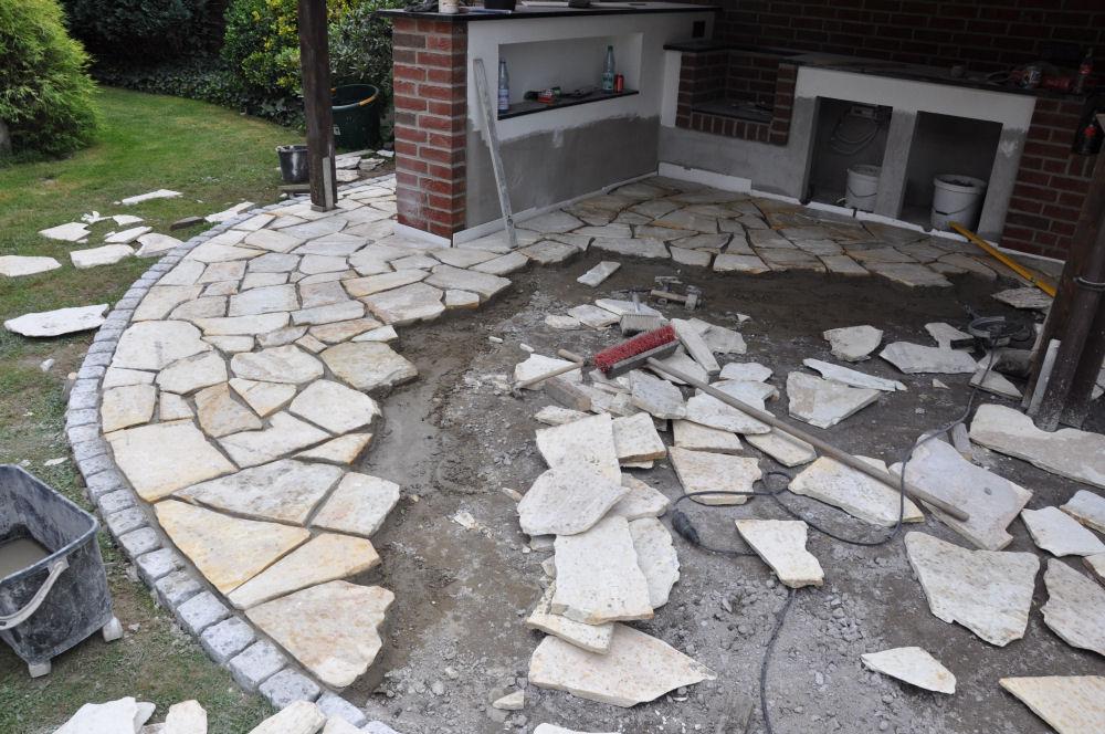 polygonalplatten verlegen weg