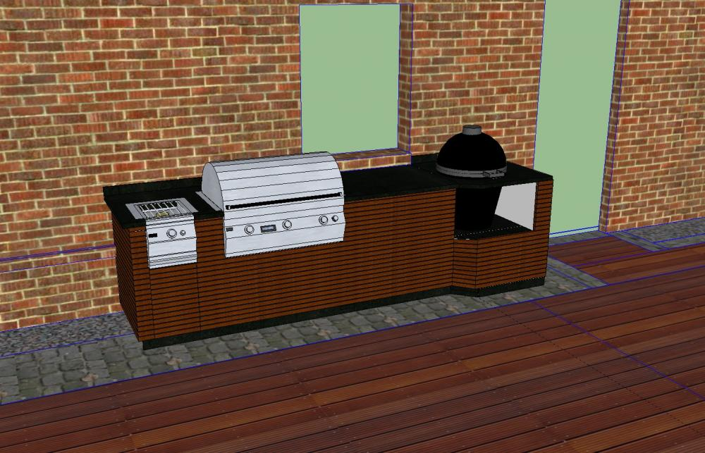 bau einer au enk che gasgrill plus keramikei grillforum. Black Bedroom Furniture Sets. Home Design Ideas