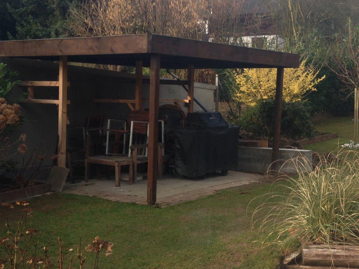 ich wollte doch nur meinen grillunterstand erneuern grillforum und bbq www. Black Bedroom Furniture Sets. Home Design Ideas