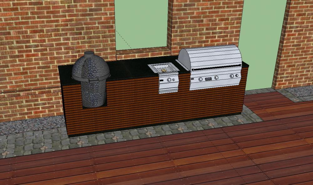 Außenküche Selber Bauen Unterkonstruktion : Bau einer außenküche gasgrill plus keramikei grillforum und bbq