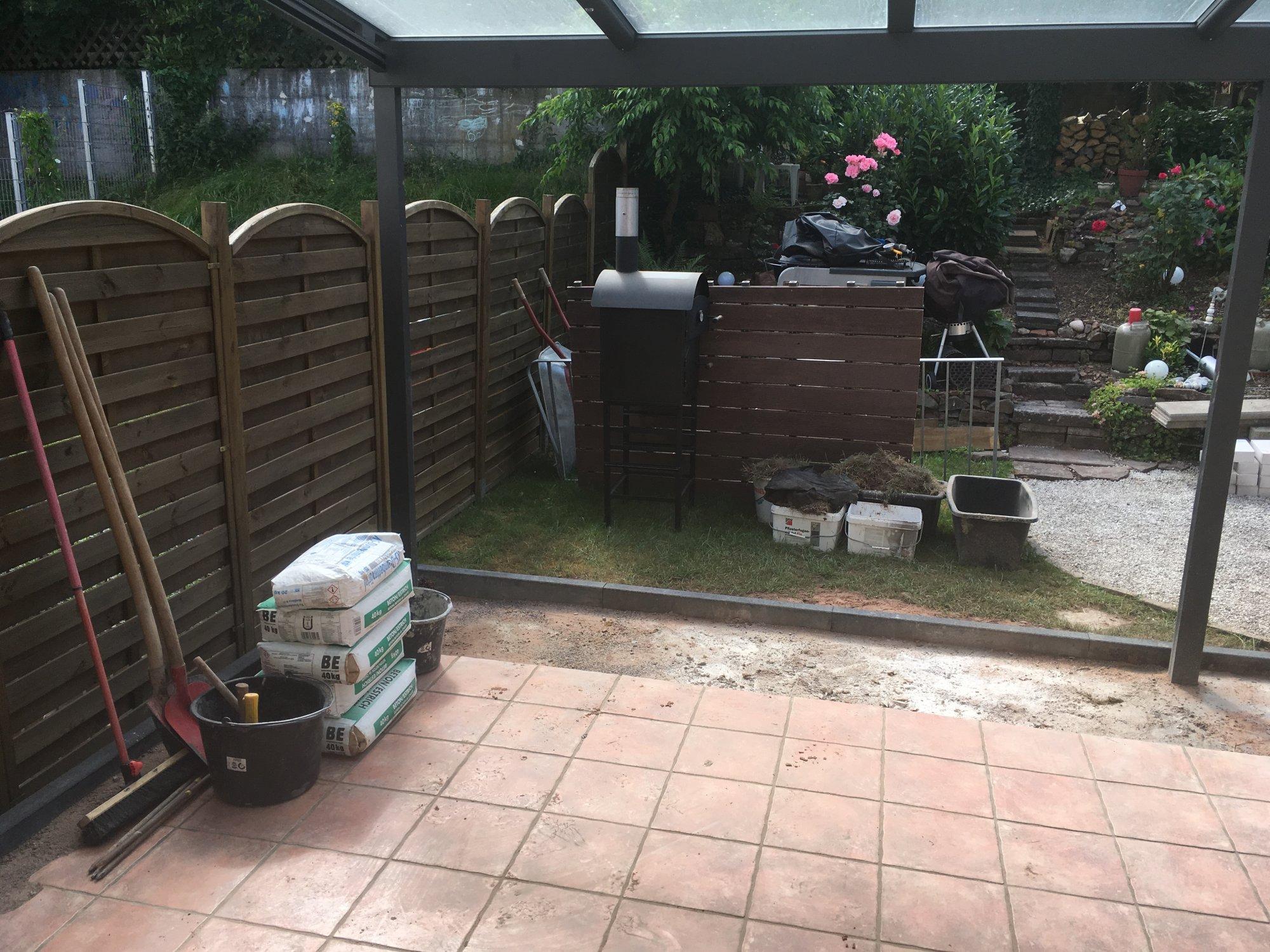 Outdoorküche Weber Xl : Outdoorküche 2. bauabschnitt fertig : erweiterung terrassenfläche