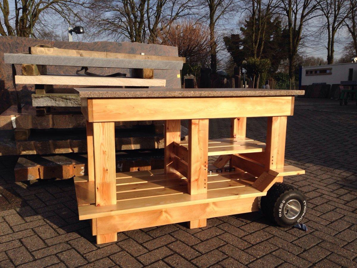 tisch f r monolith grillforum und bbq www. Black Bedroom Furniture Sets. Home Design Ideas