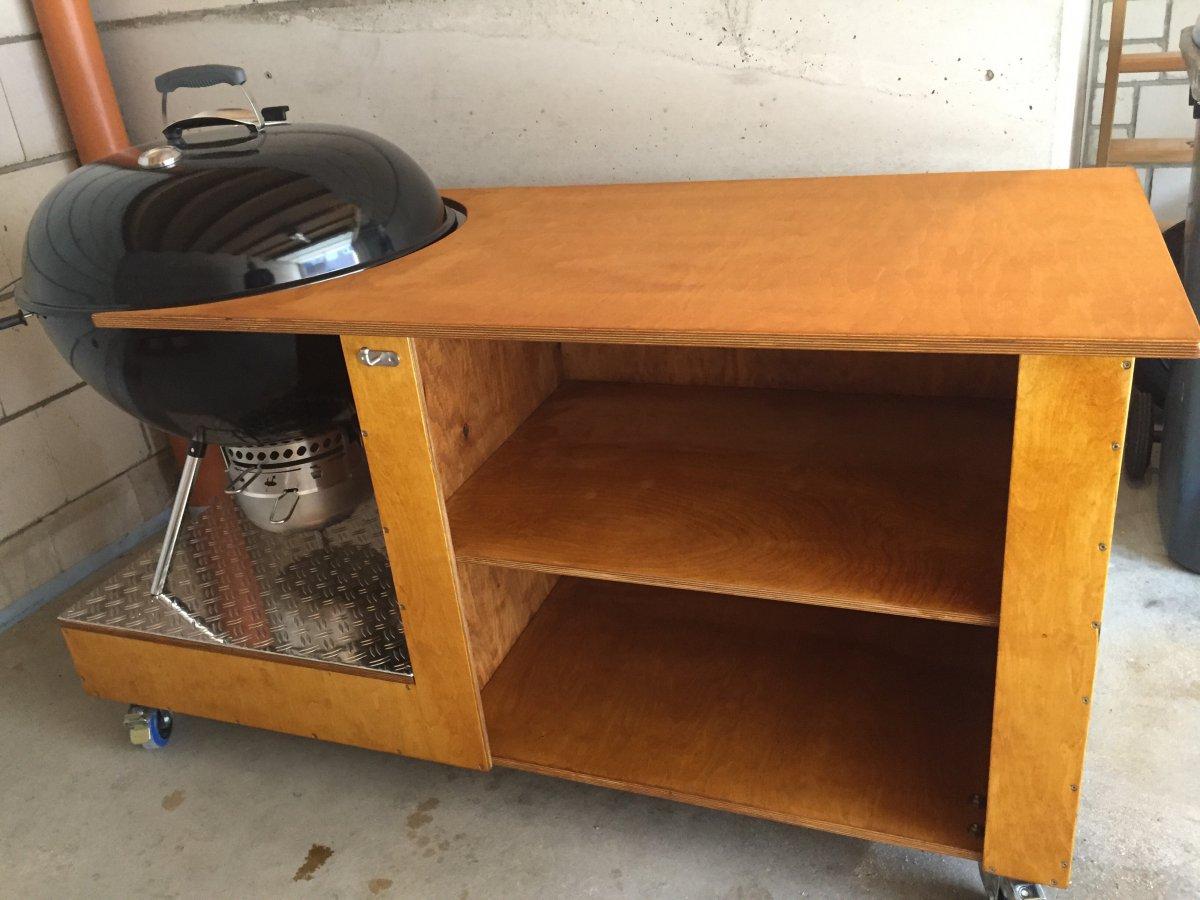 grillwagen f r 67cm weber kugelgrill selber bauen grillforum und bbq. Black Bedroom Furniture Sets. Home Design Ideas