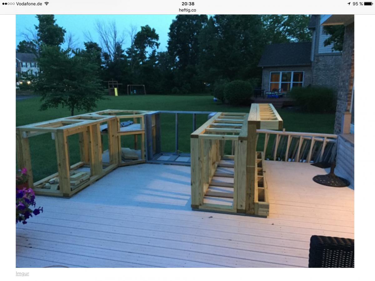 Tipps & Anregungen zu Outdoorküche auf Holz-Ständerwerk erbeten ...