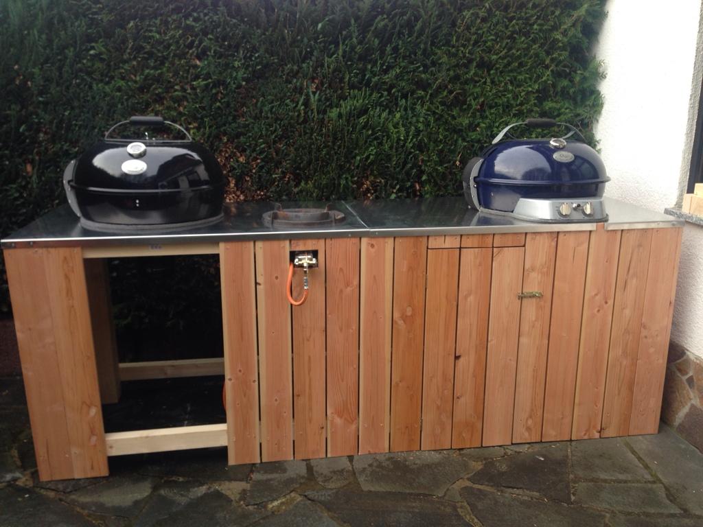 Outdoor Küche Kugelgrill : Bau einer kleinen outdoorküche grillforum und bbq