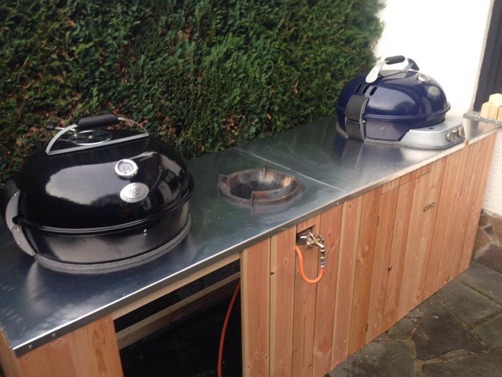 Outdoor Küche Kugelgrill : Bau einer kleinen outdoorküche grillforum und bbq www