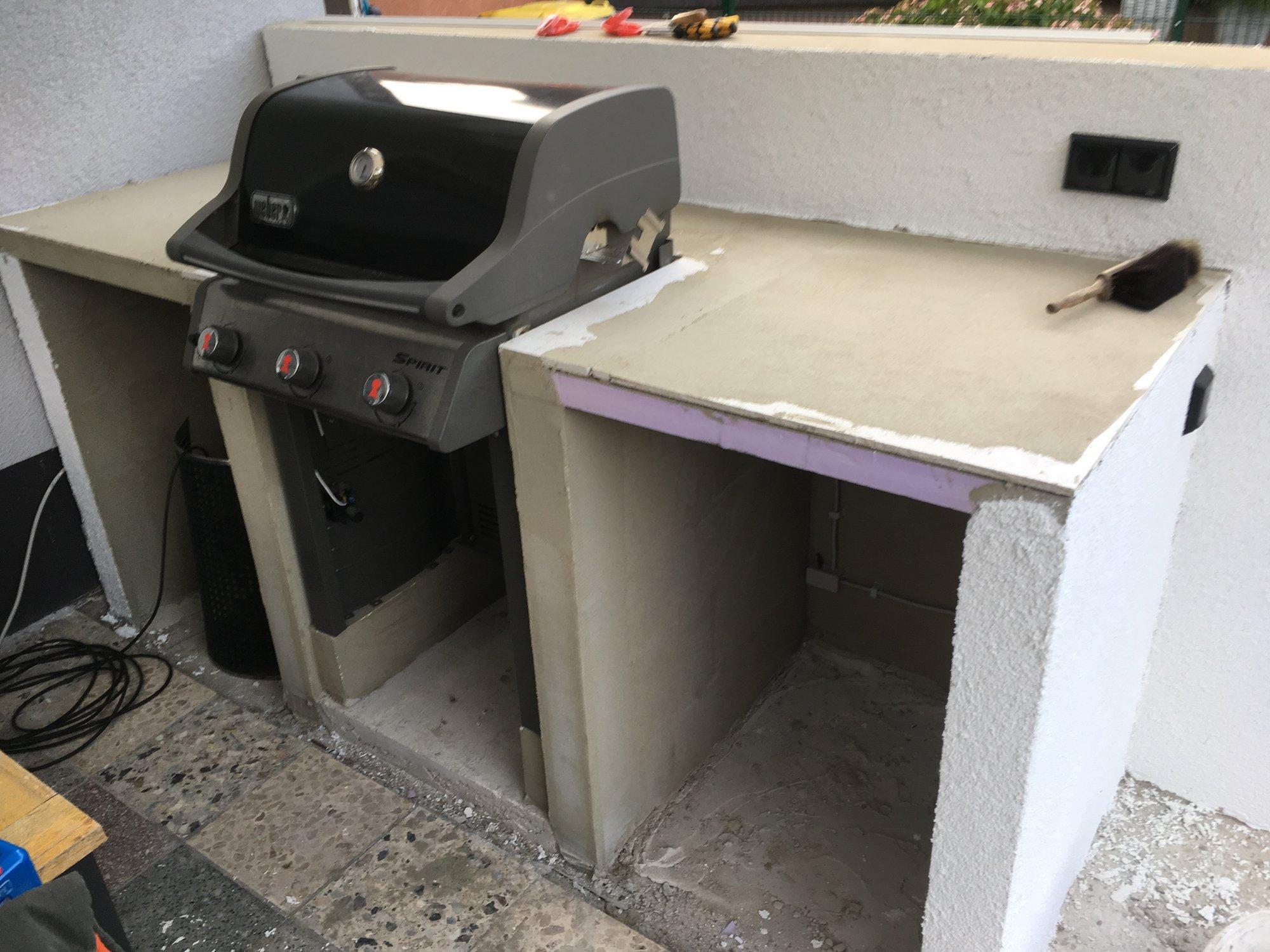 Gasgrill In Outdoor Küche Integrieren : Outdoor küche weber spirit: weber grill in outdoor küche integrieren