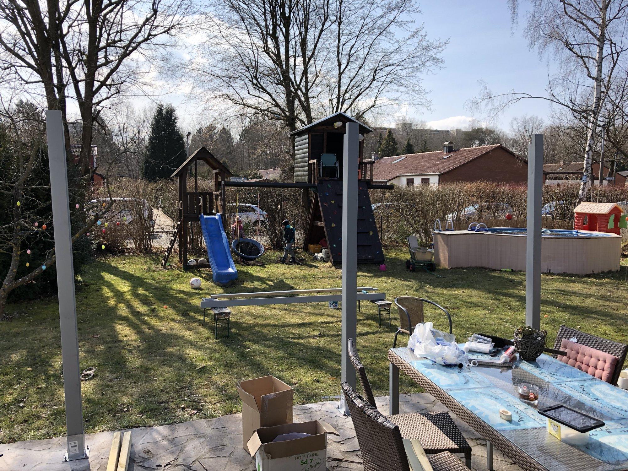 Outdoorküche Deko Dapur : Grillstandüberdachung und dann outdoorküche viele bilder